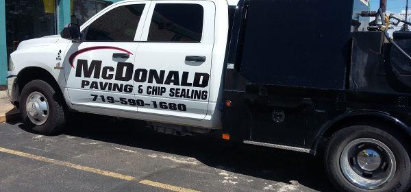 McDonald Paving Truck